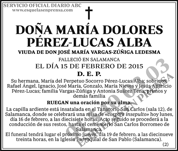 María Dolores Pérez-Lucas Alba